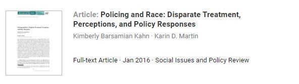 policing and race