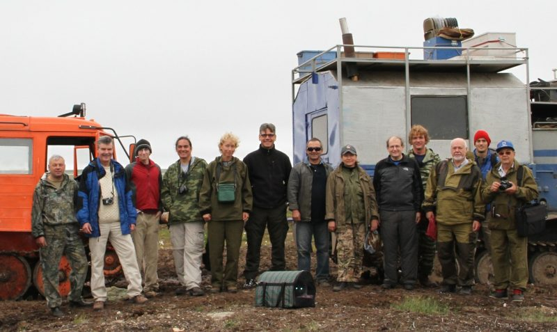The 2011 geological expedition in Chukotka during which the sample containing the new quasicrystal was recovered. Credit: Paul Steinhardt.