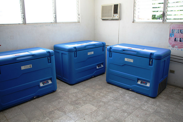 Refrigerators containing vaccine doses in Haiti. Credit: CDC Global